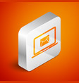 isometric laptop with envelope and open email on vector image
