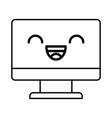 kawaii tv cartoon vector image