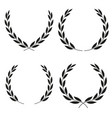 laurel wreaths icons of different shapes vector image