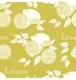 Lemon seamless vector image vector image