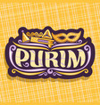 logo for purim holiday vector image vector image
