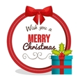 merry christmas card greeting gift design vector image