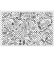 mexican food doodle set vector image vector image