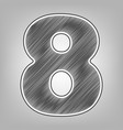 number 8 sign design template element vector image vector image