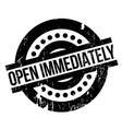 open immediately rubber stamp vector image vector image