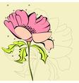 pink flower vector image
