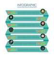 presentation ribbon step template infographic vector image