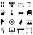 printing icon set vector image