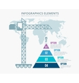 Pyramid chart options construction infographics vector image vector image