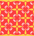 red arabic ornamental ceramic tile vector image vector image