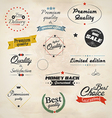 Retro styled sale labels vector image vector image