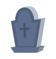 rip stone cemetery with cross style vector image
