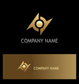 round abstract gold technology logo vector image vector image