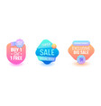 sale badge set discount promo price online banner vector image vector image