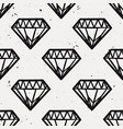 seamless monochrome grunge pattern with vintage vector image