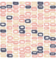 seamless pattern of 60s in beige colours vector image