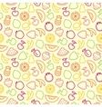 Seamless pattern with contours of fruit vector image vector image