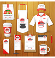 Set of restaurant corporate identity uniform vector image vector image