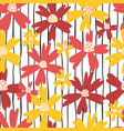 sommer flowers seamless repeating pattern vector image