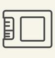 ssd drive line icon storage vector image vector image