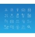 Summer mono line icon set vector image vector image