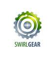 swirl arrow gear logo concept design symbol vector image