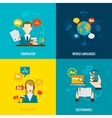 Translation and dictionary flat icons vector image vector image