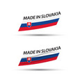 two modern colored flags with slovak tricolor vector image vector image