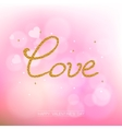 Valentine day abstract background vector image vector image