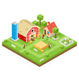 village agriculture farm rural house building vector image vector image