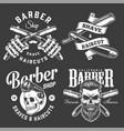 vintage barbershop monochrome prints vector image