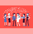 wedding ceremony newlywed guests vector image