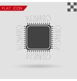 processor Icon Flat App Web Style vector image