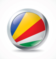 Seychelles flag button vector image
