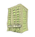A building in the city vector image vector image