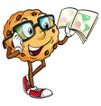 A crunchy cookie reading vector image vector image
