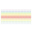 alarm clock shape halftone spectral grid vector image