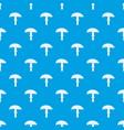 amanita pattern seamless blue vector image vector image
