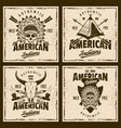 american indians colored emblems or t-shirt prints vector image