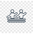aqua gym concept linear icon isolated on vector image