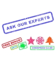 Ask Our Experts Rubber Stamp vector image vector image