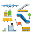 aviation icons airline graphic airplane vector image vector image