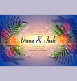 awesome wedding invitation card design with vector image vector image