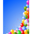 Balloons on a Blue vector image vector image