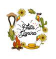 brazilian things to celebrate festa junina vector image vector image