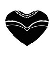 bride dress in heart shape icon vector image vector image