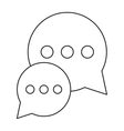 bubble talk dialog chatting social media outline vector image