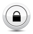 Button with Padlock Icon vector image vector image