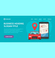 car sharing rental via mobile phone service online vector image
