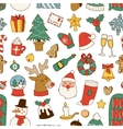 Christmas symbols pattern vector image vector image